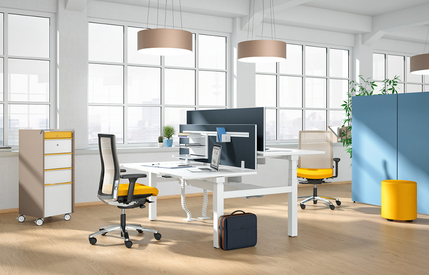 The sit-stand workstation | Workspace Design & Contracts Ltd
