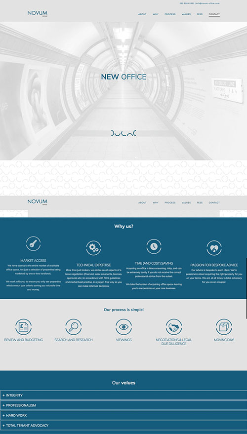 Novum Office website