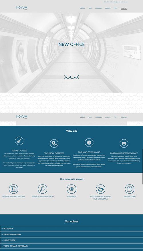Novum Office website